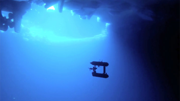 Antarctic ice thicker than thought, drone submarine finds