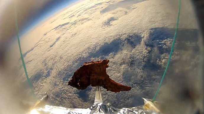 Top chop: Tandoori lamb cutlet on intrepid space voyage