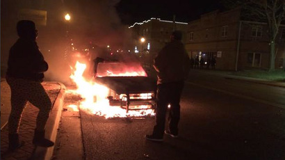 'Calmer night' in Ferguson: 44 arrests, tear gas, Molotov cocktails, cop car torched
