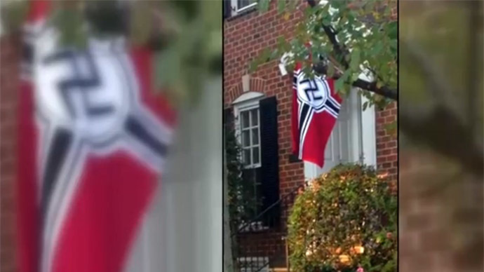 Virginia man protests Obama's immigration reform with Nazi flag