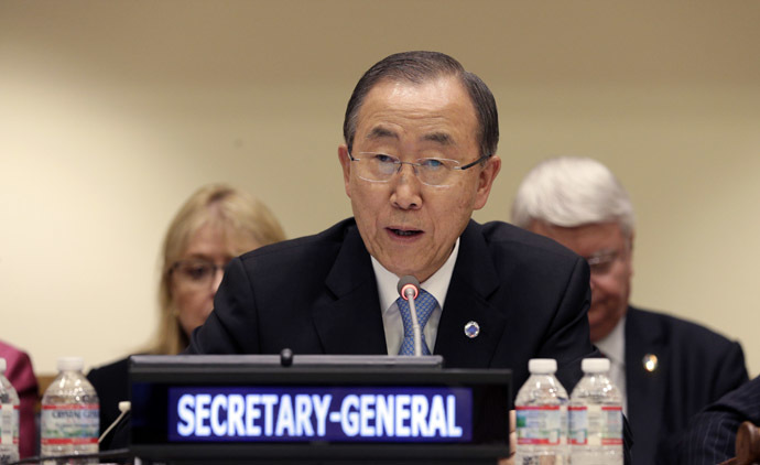 UN Secretary-General Ban Ki-moon (AFP Photo/Andrew Gombert)