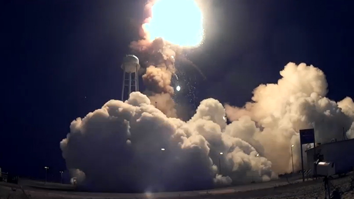 Inside fireball: Close-up footage from the Antares Rocket explosion (VIDEOS)