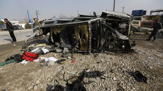 British embassy vehicle hit in suicide attack in Kabul; at least 5 killed