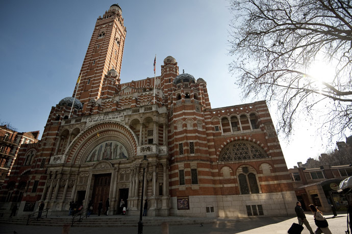 Westminster Cathedral is seen in central London. ((AFP Photo/Ben Stansall)
