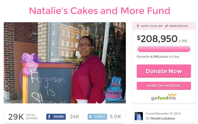 Screenshot from gofundme.com