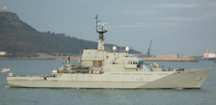 British Navy's HMS Tyne (Image from wikimedia.org)