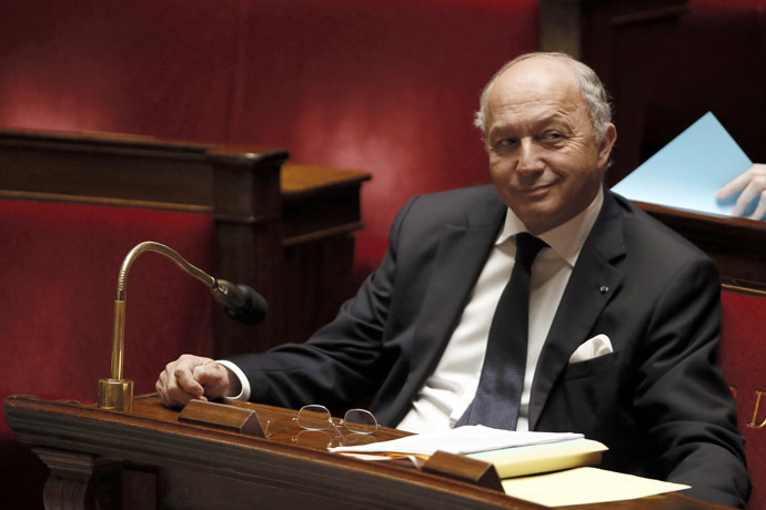 French Foreign Affairs minister Laurent Fabius (AFP Photo/Patrick Kovarik)