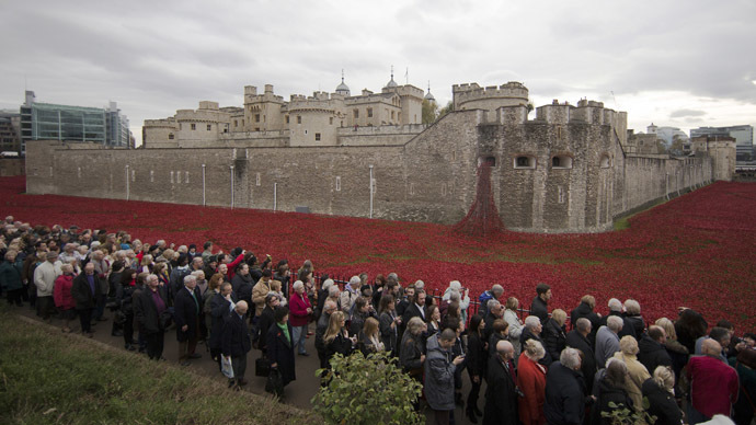 'Disturbing': Arms firms dine at Tower of London days after 'sea of poppies' closed