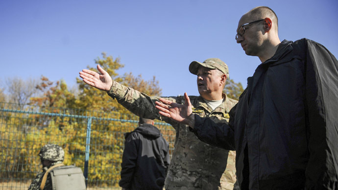 25 years after Berlin Wall: Ukraine building barrier on Russian border 'unacceptable'