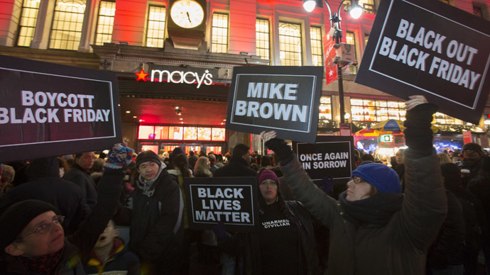 'Black Lives Matter Friday': Boycotts, marches, arrests over Ferguson decision
