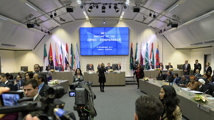 A general view shows the166th ordinary meeting of the Organization of the Petroleum Exporting Countries, OPEC, at their headquarters in Vienna, Austria on November 27, 2014. (AFP Photo)