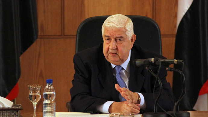 Syria's Foreign Minister Walid Muallem (AFP Photo)
