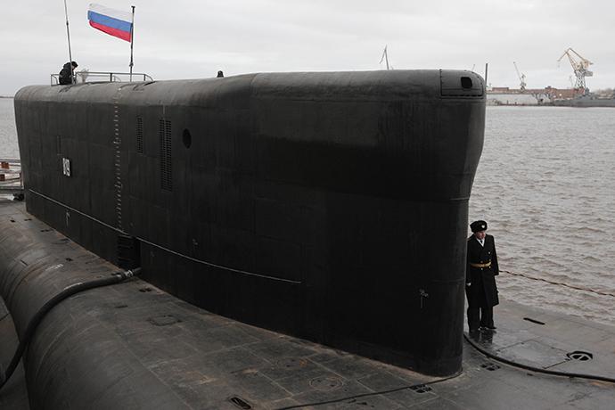 "The Borey-class nuclear submarine ""Aleksandr Nevsky"" (RIA Novosti / Sergey Mamontov)"