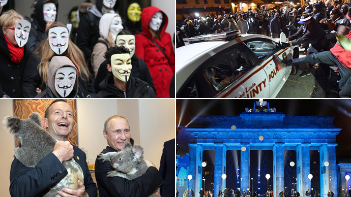 November 2014 in pictures: Comets, riots and marches...oh my!
