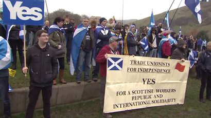 'Storm is coming!' Hundreds demand independence at Scottish Parliament (VIDEO)