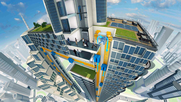 Going up and sideways! Germans invent revolutionary elevator (VIDEO)