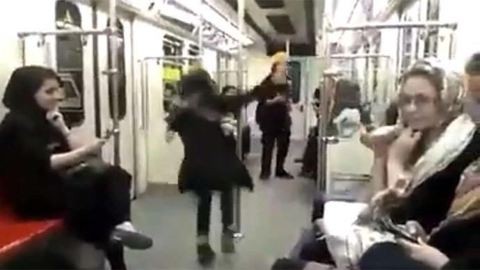 #MyStealthyFreedom: Defiant Iranian girl breakdances on Tehran subway (VIDEO)