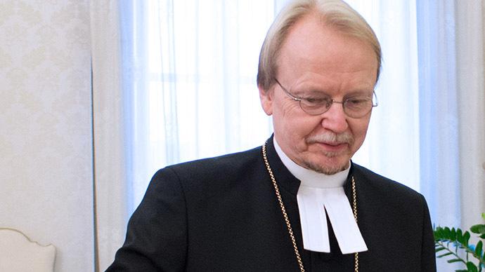 Finnish Lutheran Archbishop Kari Makinen (AFP Photo/Osservatore Romano)