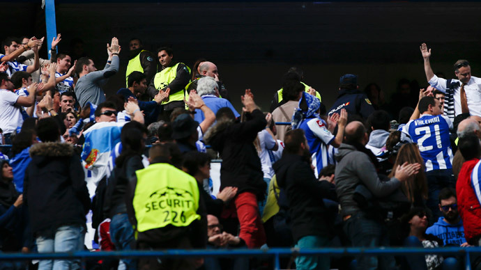 Football fan killed in clashes between Spanish 'ultras' in Madrid