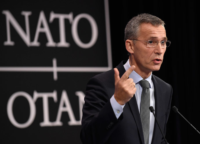 North Atlantic Treaty Organisation (NATO) secretary general Jens Stoltenberg holds a press conference at the NATO headquarters in Brussels on December 1, 2014 (AFP Photo / John Thys)