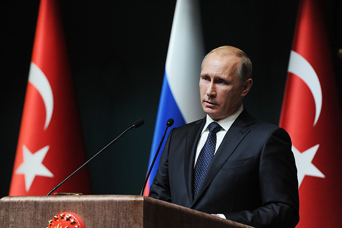 December 1, 2014. Russian President Vladimir Putin at the concluding news conference in Ankara. (RIA Novosti/Michael Klimentyev)