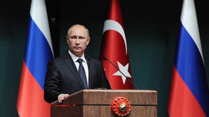 December 1, 2014. Russian President Vladimir Putin at the concluding news conference in Ankara. (RIA Novosti/Michael Klimentyev)