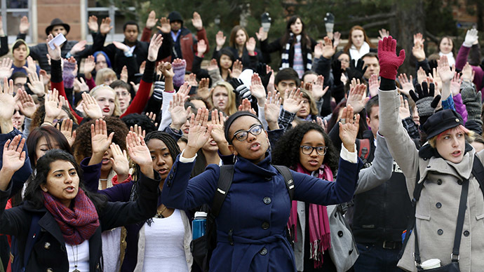 #HandsUpWalkOut rallies spread across US in wake of Ferguson decision
