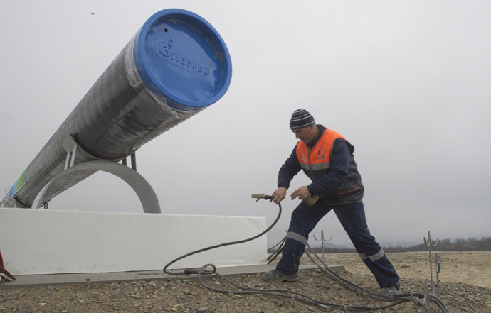Preparations for the ceremony launching the construction of South Stream pipeline. (RIA Novosti / Sergey Guneev)