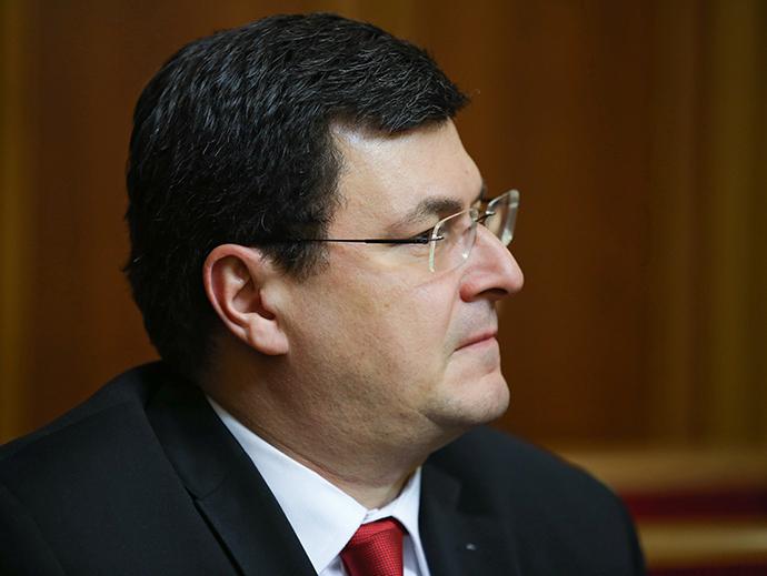 Alexander Kvitashvili, a candidate for head of the Ukrainian health ministry, at a session of Verkhovna Rada in Kiev (RIA Novosti / Mikhail Polinchak)