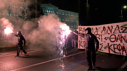 Athens on fire as rioters mark anniversary of police killing of teen
