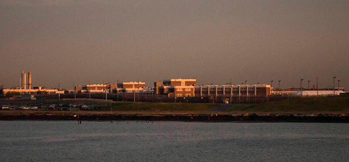 The Rikers Island jail complex on Rikers Island is seen from LaGuardia Airport in New York (Reuters / Adrees Latif)