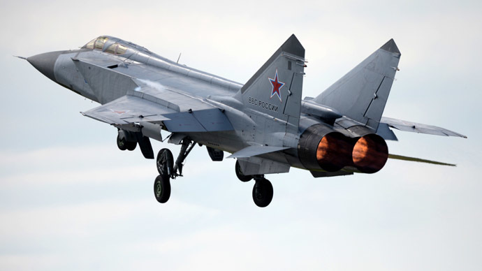 Flight fright: Russian MiG-31 jet pulls midair maneuver on Norwegian F-16 (VIDEO)