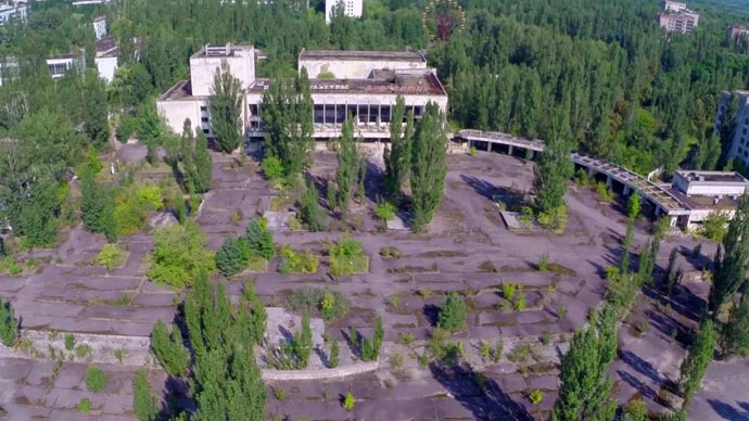 Haunting: Rare Chernobyl drone footage reveals devastation in Pripyat exclusion zone