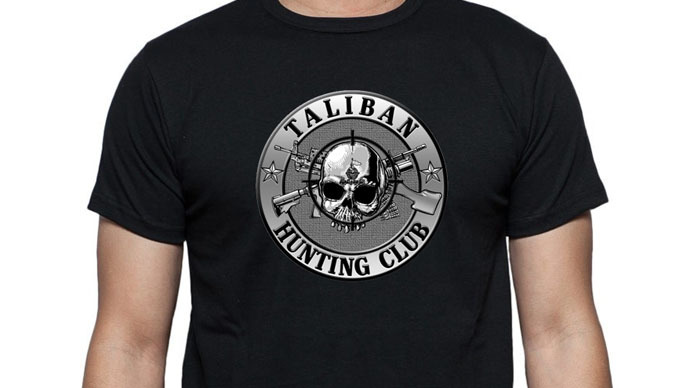 Far-right group touts 'Taliban Hunting Club' merchandise