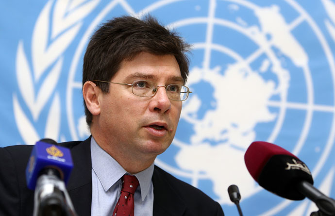 The United Nations Special Rapporteur on the human rights, Francois Crepeau (AFP Photo)