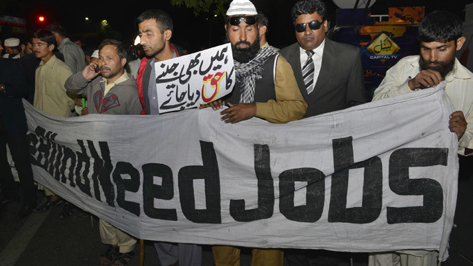 Blind Pakistani protesters 'beaten by police' on International Day of Persons with Disabilities