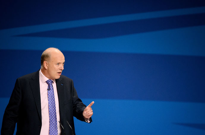 Secretary of State for Justice Chris Grayling (AFP Photo/Leon Neal)