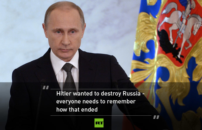 Remember Lessons We Taught Hitler Top 10 Quotes From Putin S State Of Nation Address Rt World News