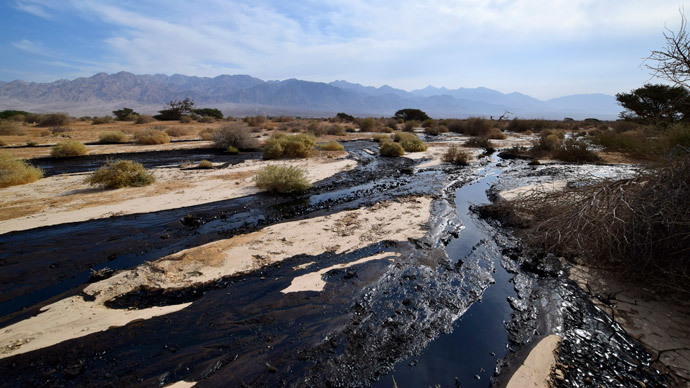 ​'Millions of liters' of oil spilled in Israel, flooding nature reserve (PHOTOS)