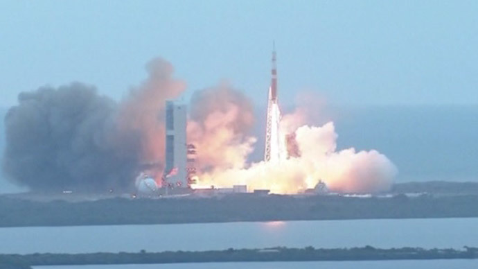 Orion spacecraft splashes down after historic double-orbit mission