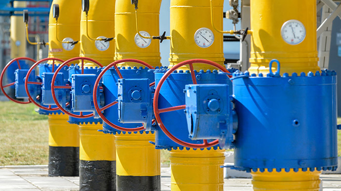 A picture shows a partial view of a compressor station of Ukraine's Naftogaz national oil and gas company near the northeastern Ukrainian city of Kharkiv. (AFP Photo/Sergey Bobok)