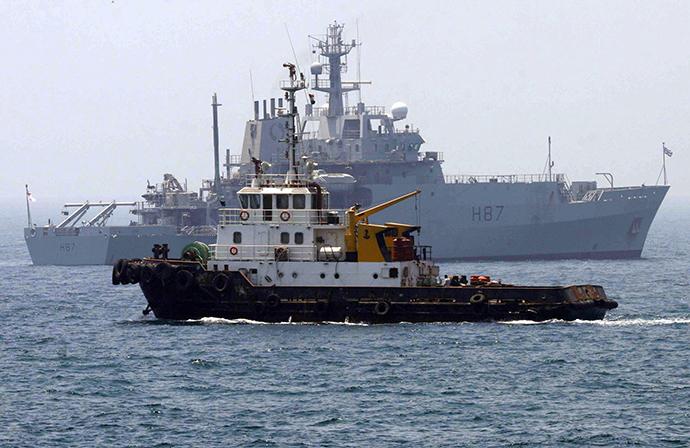 The Echo, the Britain Royal Navy ship (Reuters / Thaier Al-Sudani)