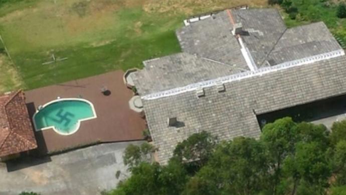 Huge swastika found in Brazilian swimming pool