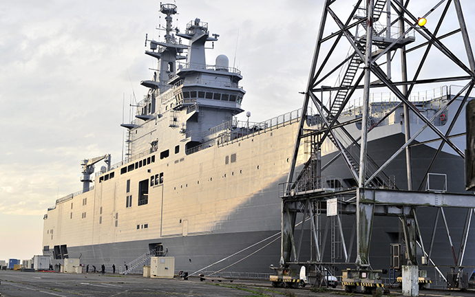 The Mistral-class assault warship (AFP Photo / Georges Gobet)