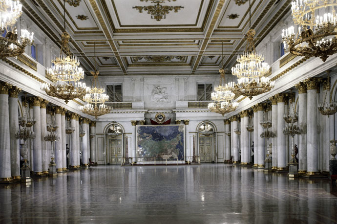 St. George's Hall in the Hermitage Museum. Opened in 1795 (architect Giacomo Quarenghi). (RIA Novosti/B.Manushin)