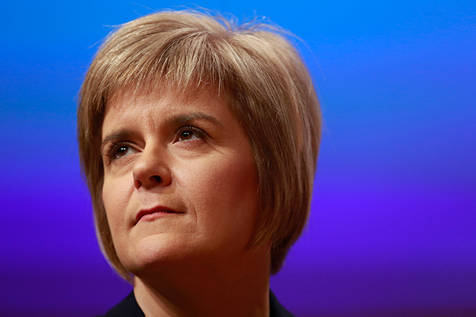 Nicola Sturgeon, the SNP leader, who risks being overshadowed by Salmond yet again (Reuters / Cathal McNaughton)