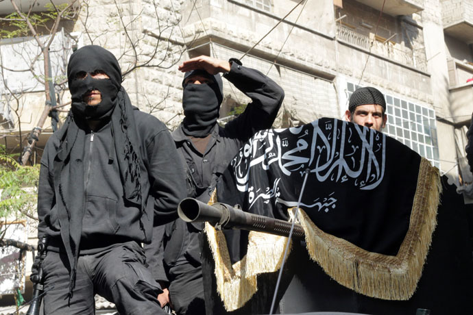 Members of jihadist group Al-Nusra Front (AFP Photo/Karam Al-Masri)