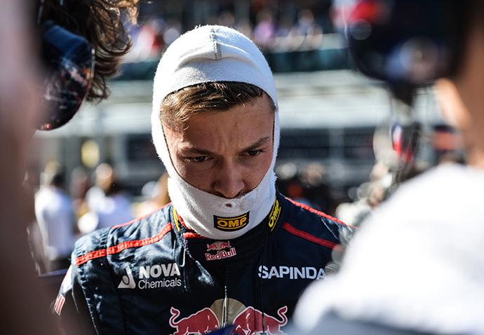 Toro Rosso's driver Daniil Kvyat before a race at the 2014 Formula 1 Russian Grand Prix (RIA Novosti / Alexey Kudenko)