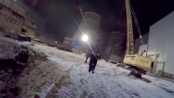 Daredevil roofers film GoPro video of climbing nuclear reactor's 150m cooling tower