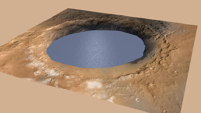 Ancient Mars had massive lake, was potentially a wet planet